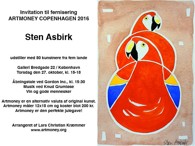invitation artmoney Bredgade 22, 2016